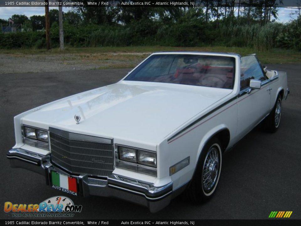 1985 Eldorado Biarritz >> 1985 Cadillac Eldorado Biarritz Convertible White / Red Photo #9 | DealerRevs.com