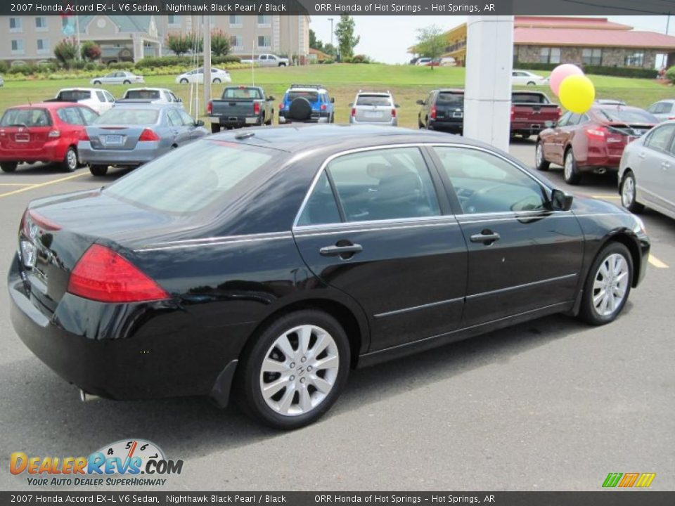 2007 Honda Accord Ex L V6 Sedan Nighthawk Black Pearl