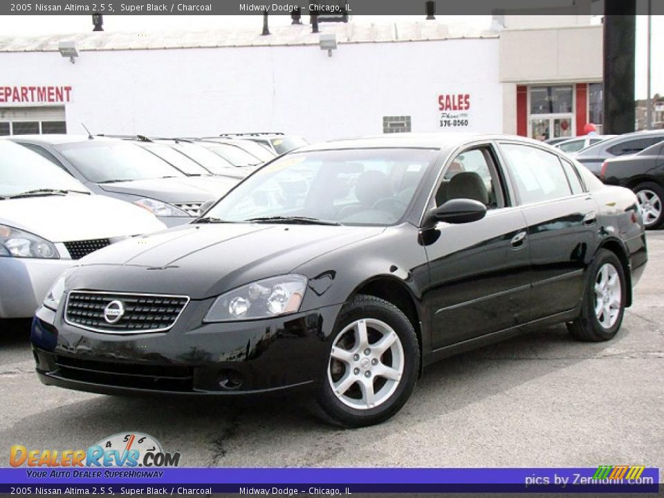 2005 Nissan Altima 2.5S >> 2005 Nissan Altima 2.5 S Super Black / Charcoal Photo #1 | DealerRevs.com