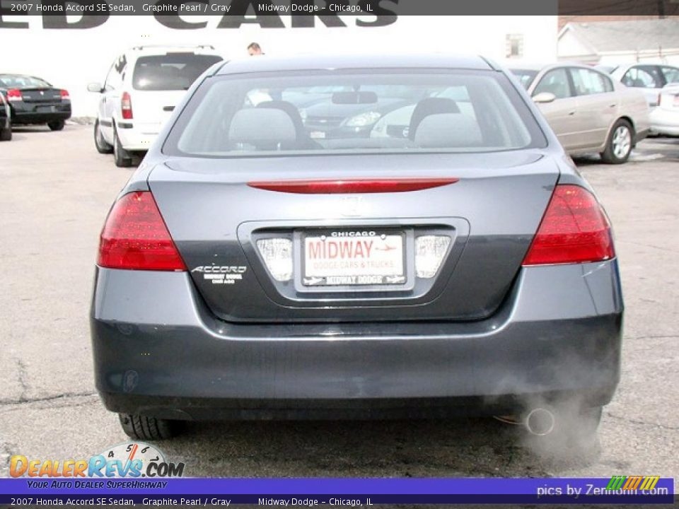 2007 Honda Accord Se Sedan Graphite Pearl Gray Photo 9
