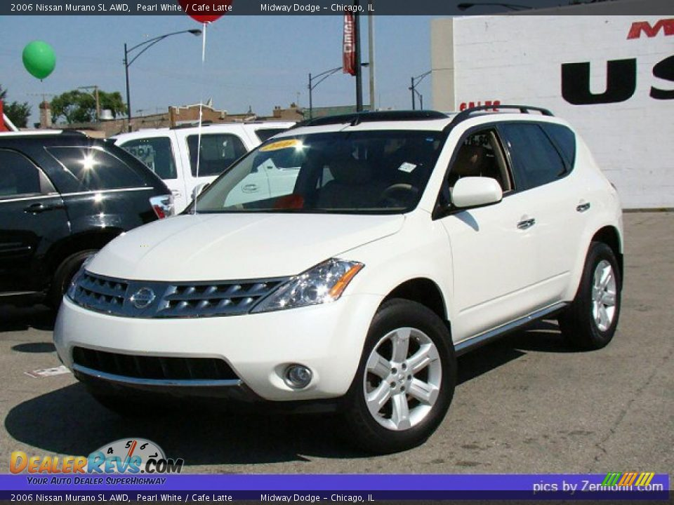 2006 Nissan Murano Sl Awd Pearl White Cafe Latte Photo