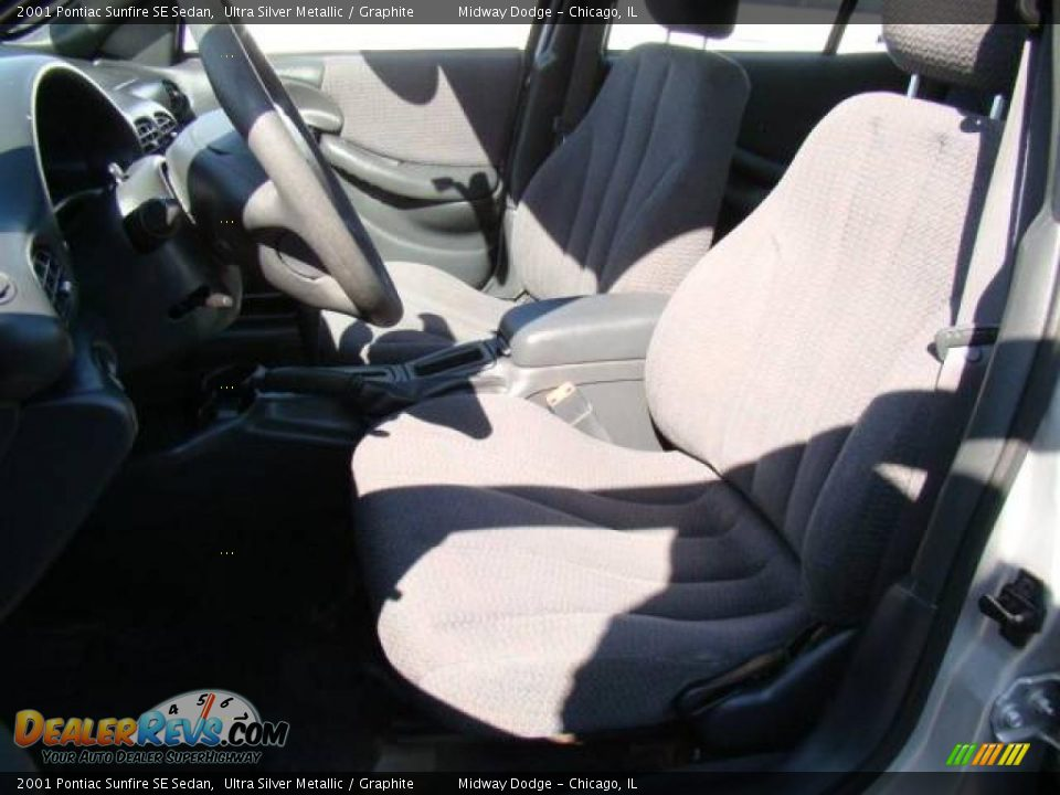 2001 Pontiac Sunfire SE Sedan Ultra Silver Metallic / Graphite Photo ...