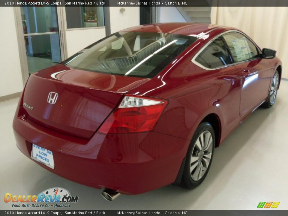 2010 honda accord lx s coupe san marino red black photo 4. Black Bedroom Furniture Sets. Home Design Ideas