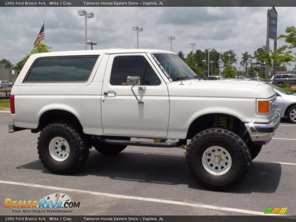 When Will The New Ford Bronco Be Available >> 1989 Ford Bronco 4x4 White / Gray Photo #4 | DealerRevs.com