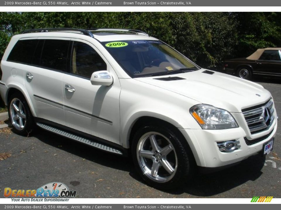 2009 mercedes benz gl 550 4matic arctic white cashmere for Mercedes benz 550 gl