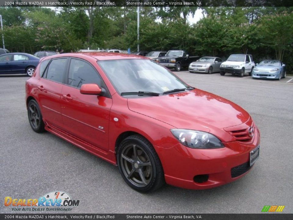 2004 Mazda Mazda3 S Hatchback Velocity Red Black Red