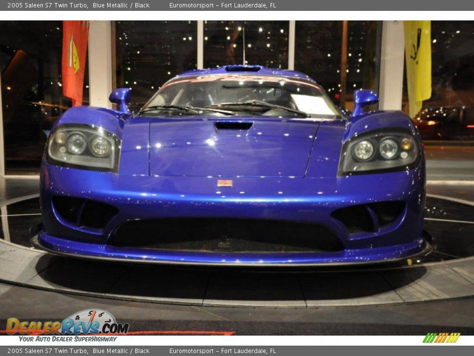 2005 Saleen S7 Twin Turbo Blue Metallic Black Photo 2