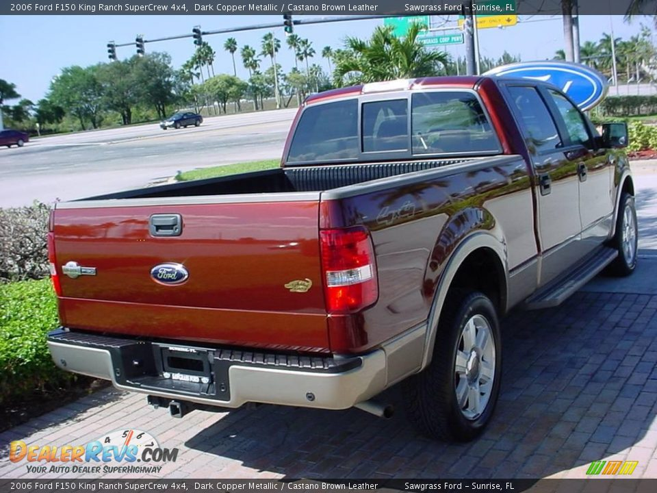 2006 ford f150 king ranch supercrew 4x4 dark copper metallic castano brown leather photo 3. Black Bedroom Furniture Sets. Home Design Ideas