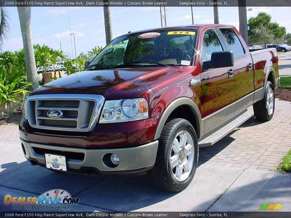 2006 ford f150 king ranch supercrew 4x4 dark copper metallic castano brown leather photo 8. Black Bedroom Furniture Sets. Home Design Ideas