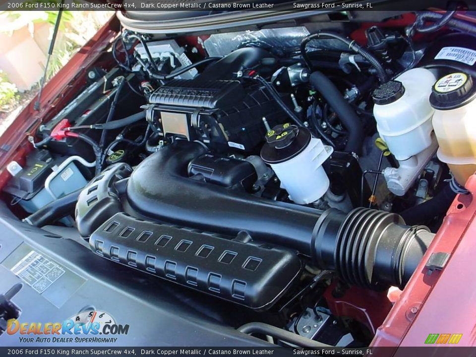 2006 ford f150 king ranch supercrew 4x4 5 4 liter sohc 24 valve triton v8 engine photo 16. Black Bedroom Furniture Sets. Home Design Ideas