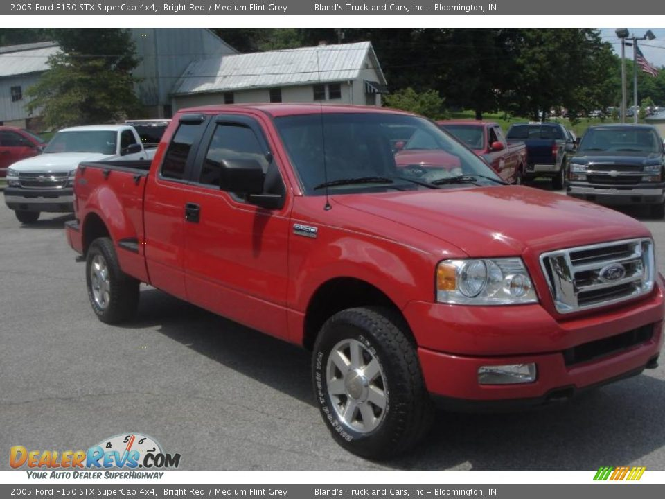 2005 Ford F150 Stx Supercab 4x4 Bright Red Medium Flint