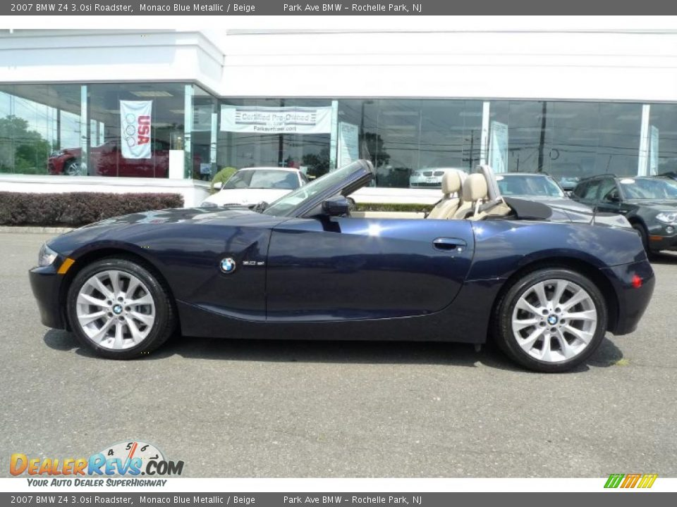 2007 Bmw Z4 3 0si Roadster Monaco Blue Metallic Beige