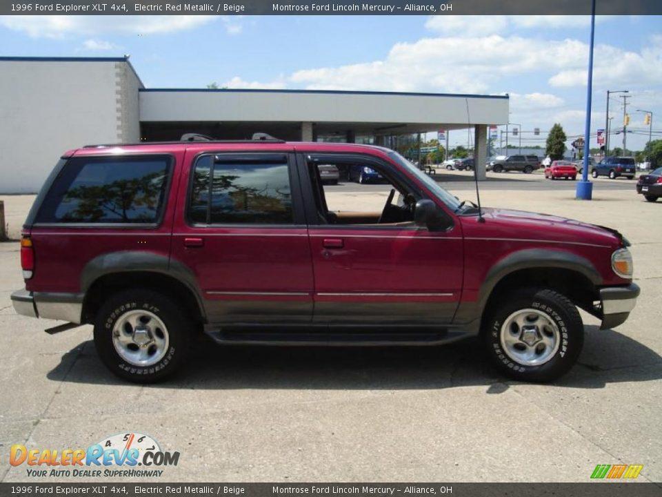 1996 Ford Explorer Xlt 4x4 Electric Red Metallic Beige