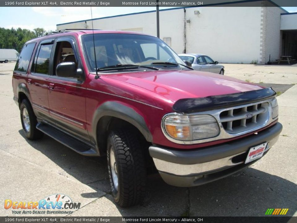 1996 ford explorer xlt 4x4 electric red metallic beige. Black Bedroom Furniture Sets. Home Design Ideas