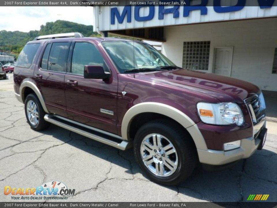 2007 ford explorer eddie bauer 4x4 dark cherry metallic camel photo 2. Black Bedroom Furniture Sets. Home Design Ideas