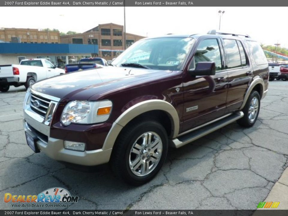 2007 ford explorer eddie bauer 4x4 dark cherry metallic camel photo 5. Black Bedroom Furniture Sets. Home Design Ideas