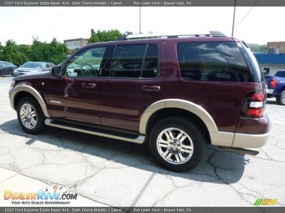 2007 ford explorer eddie bauer 4x4 dark cherry metallic camel photo 7. Black Bedroom Furniture Sets. Home Design Ideas