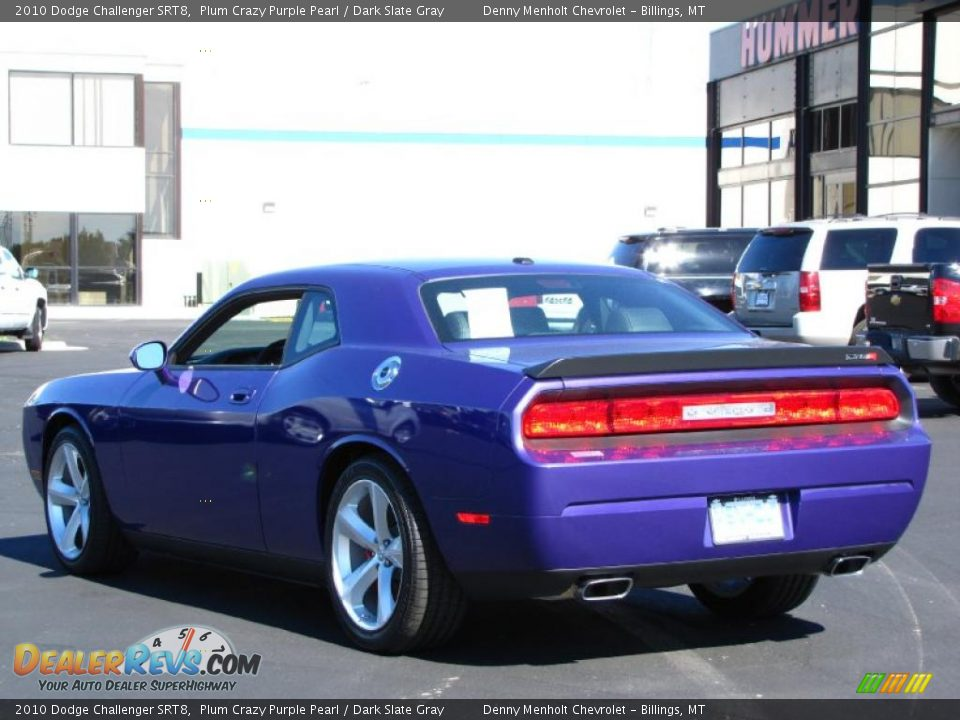 2010 Dodge Challenger Srt8 Plum Crazy Purple Pearl Dark Slate Gray Photo 12 Dealerrevs Com