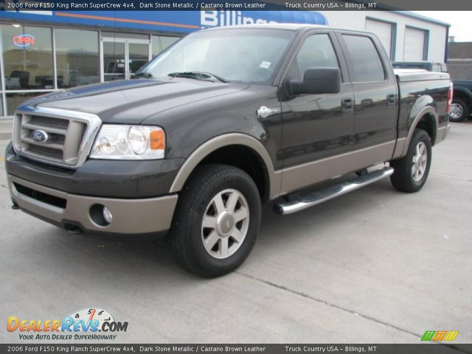2006 ford f150 king ranch supercrew 4x4 dark stone metallic castano brown leather photo 2. Black Bedroom Furniture Sets. Home Design Ideas