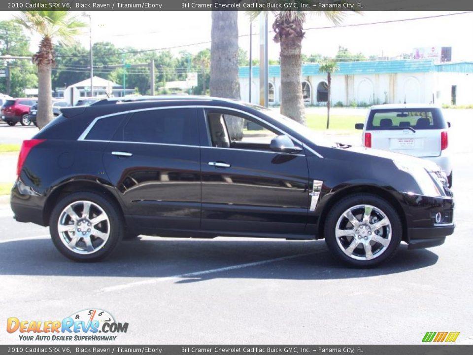 2010 Cadillac Srx V6 Black Raven Titanium Ebony Photo 1