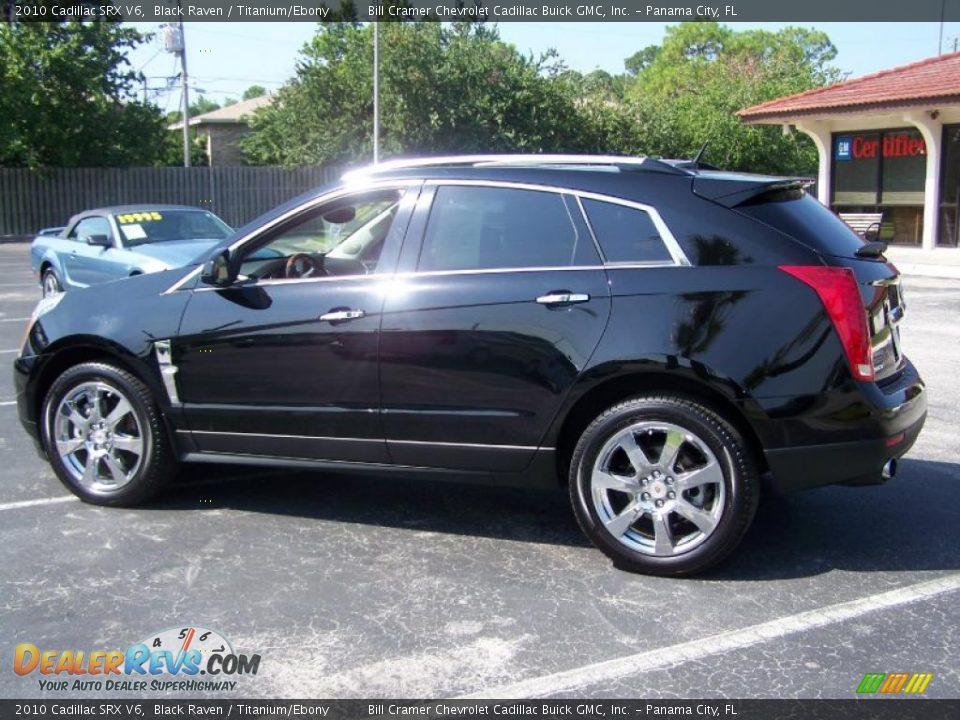 2010 Cadillac Srx V6 Black Raven Titanium Ebony Photo