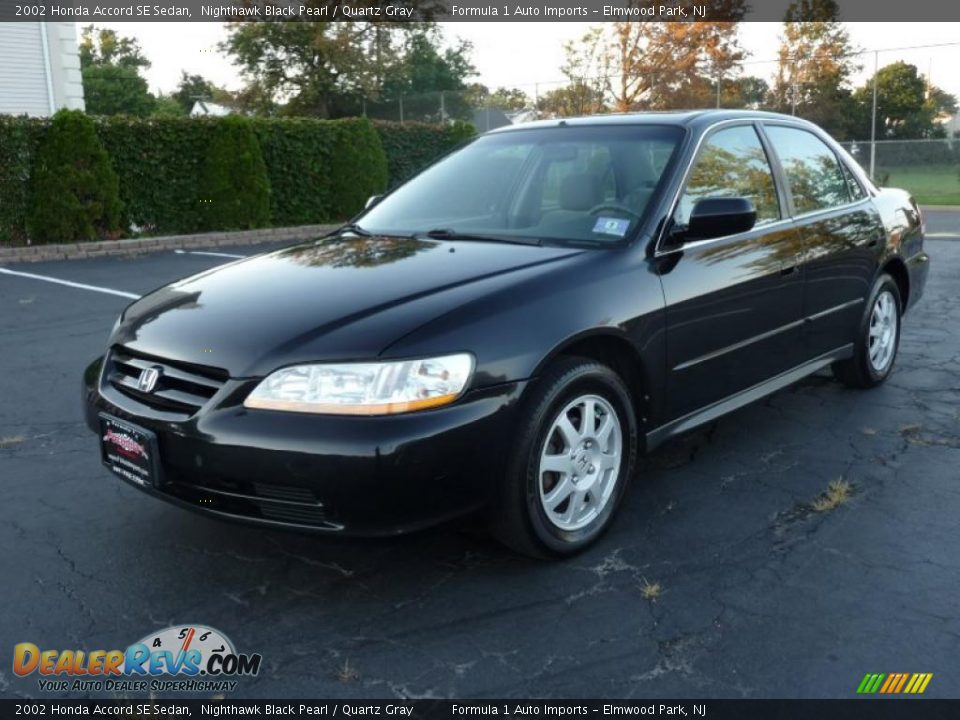 2002 honda accord se sedan nighthawk black pearl quartz gray photo 1 dealerrevs com