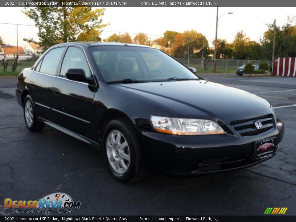 2002 Honda Accord SE Sedan Nighthawk Black Pearl / Quartz ...