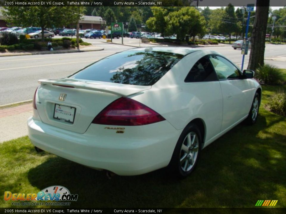 2005 honda accord ex v6 coupe taffeta white ivory photo. Black Bedroom Furniture Sets. Home Design Ideas