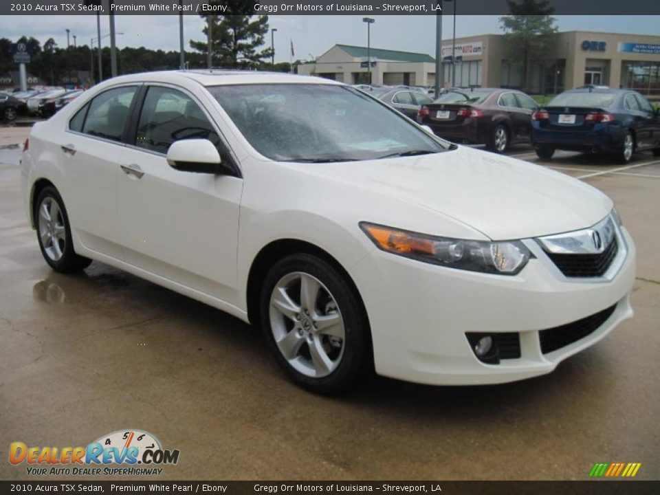 2010 acura tsx sedan premium white pearl ebony photo 2. Black Bedroom Furniture Sets. Home Design Ideas