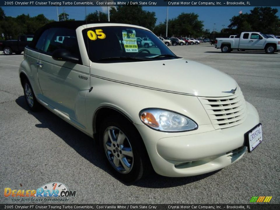 2005 chrysler pt cruiser touring turbo convertible cool vanilla white dark slate gray photo. Black Bedroom Furniture Sets. Home Design Ideas