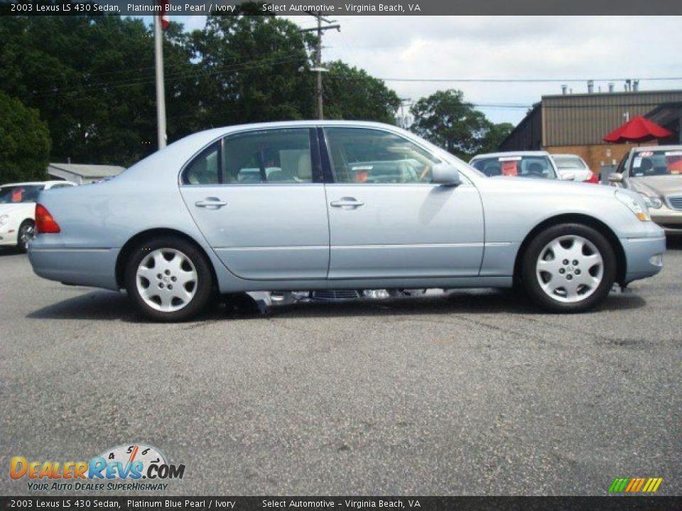2003 Lexus Ls 430 Sedan Platinum Blue Pearl Ivory Photo