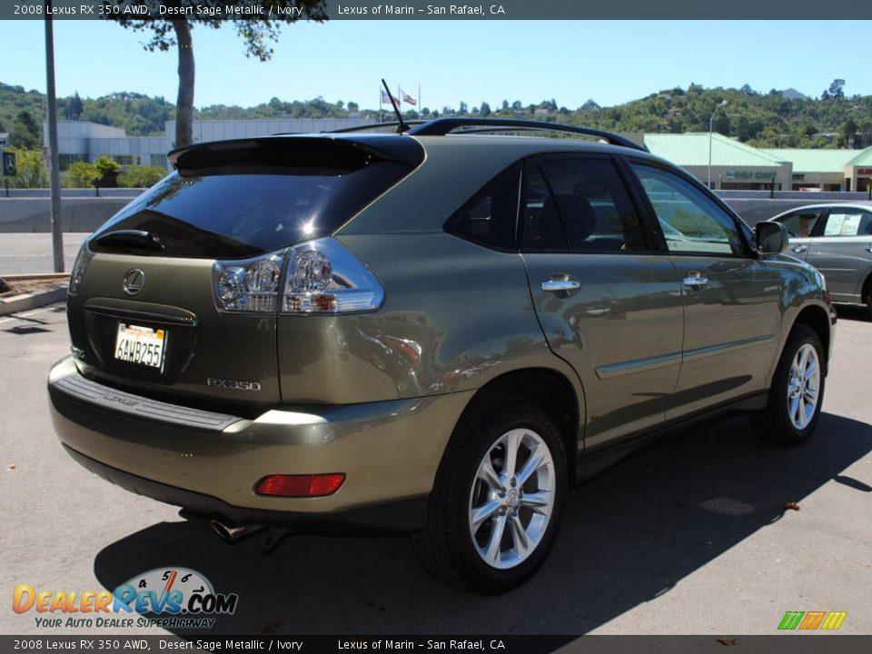 2008 Lexus Rx 350 Awd Desert Sage Metallic Ivory Photo