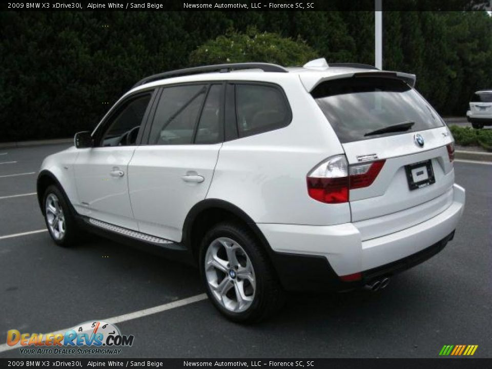 2009 bmw x3 xdrive30i alpine white sand beige photo 2. Black Bedroom Furniture Sets. Home Design Ideas