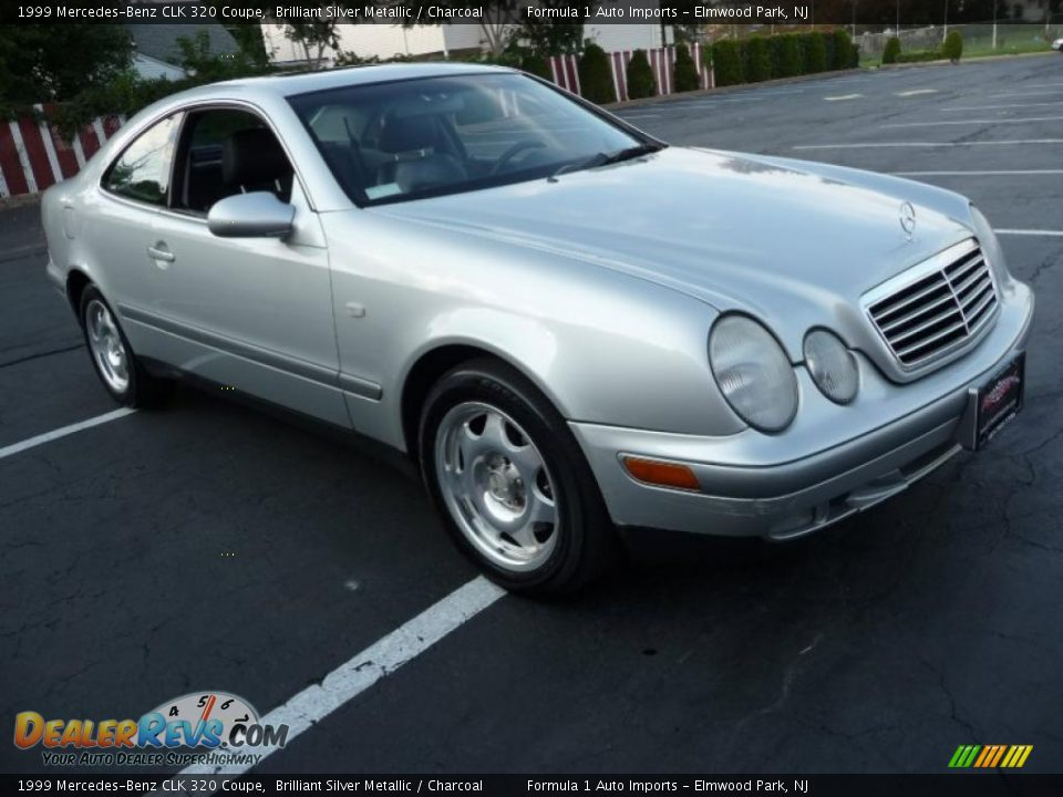 1999 mercedes benz clk 320 coupe brilliant silver metallic charcoal photo 2. Black Bedroom Furniture Sets. Home Design Ideas