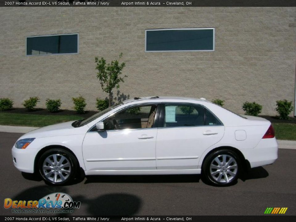 2007 Honda Accord EX-L V6 Sedan Taffeta White / Ivory ...