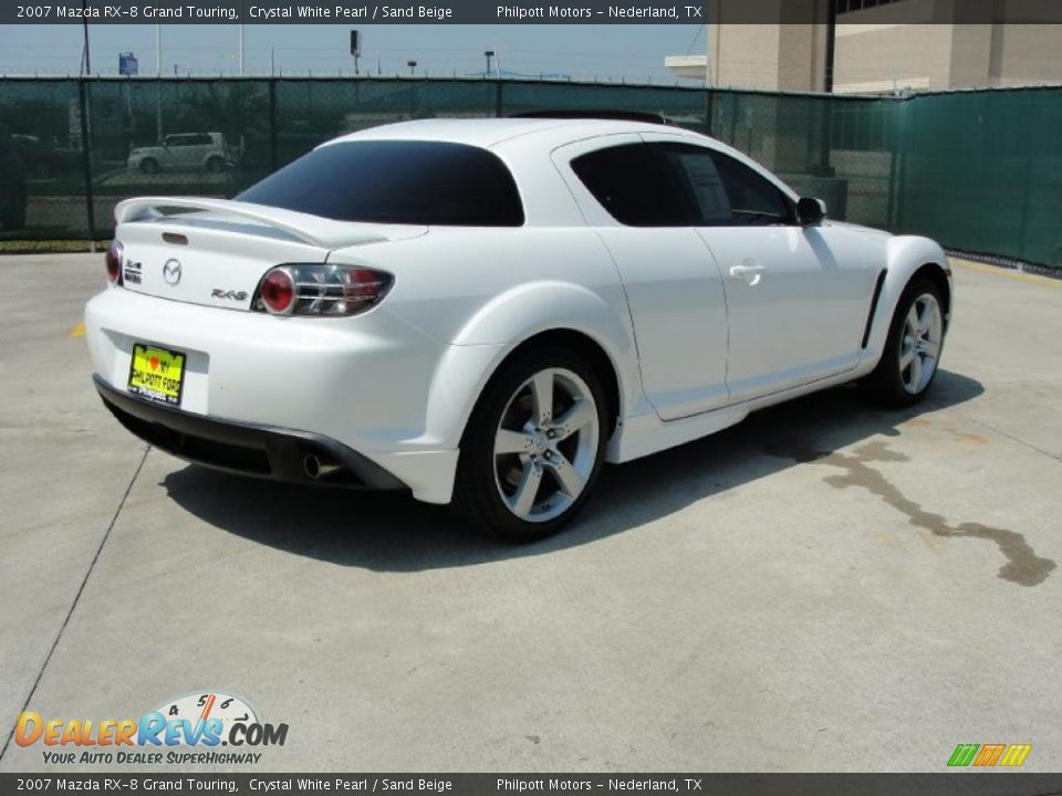 2007 mazda rx 8 grand touring crystal white pearl sand beige photo 3. Black Bedroom Furniture Sets. Home Design Ideas