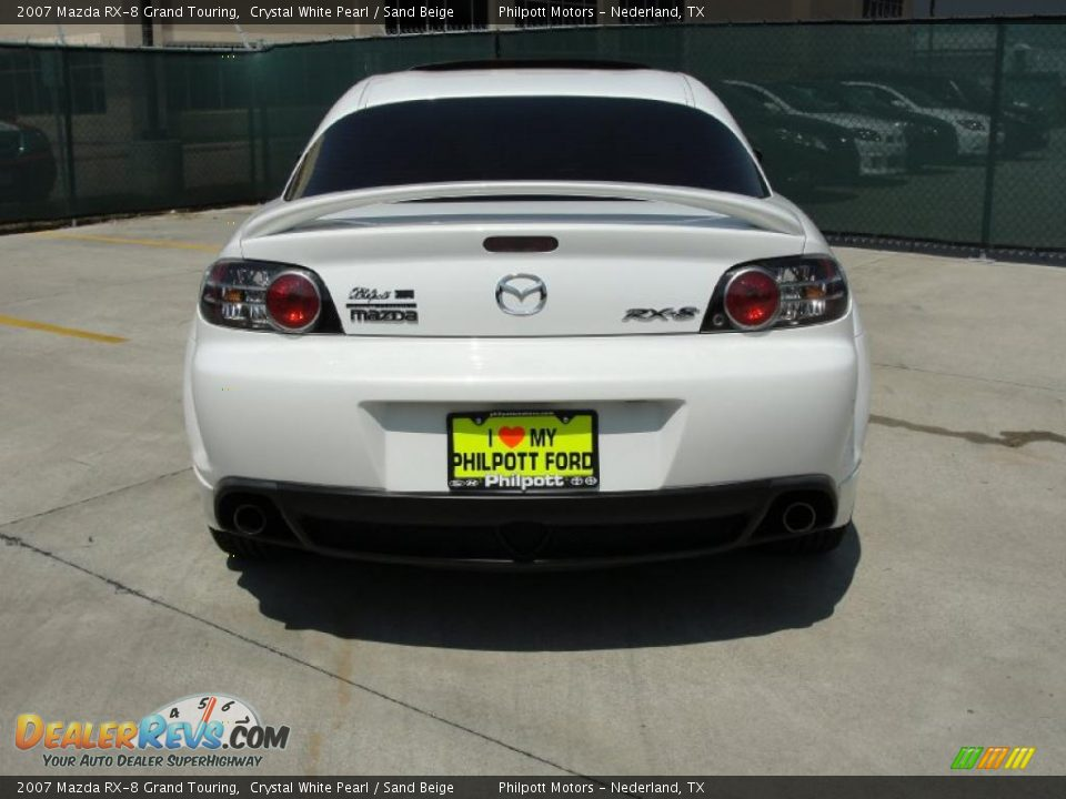 2007 mazda rx 8 grand touring crystal white pearl sand beige photo 4. Black Bedroom Furniture Sets. Home Design Ideas