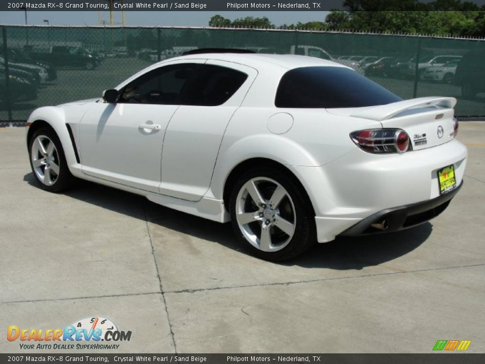 2007 mazda rx 8 grand touring crystal white pearl sand beige photo 5. Black Bedroom Furniture Sets. Home Design Ideas