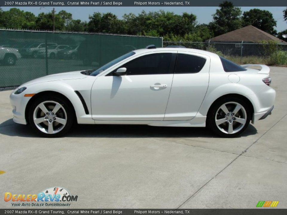 2007 mazda rx 8 grand touring crystal white pearl sand beige photo 6. Black Bedroom Furniture Sets. Home Design Ideas