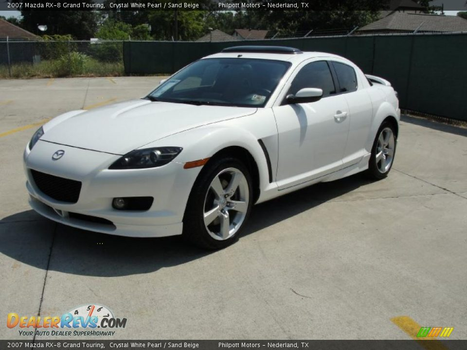 2007 mazda rx 8 grand touring crystal white pearl sand beige photo 7. Black Bedroom Furniture Sets. Home Design Ideas