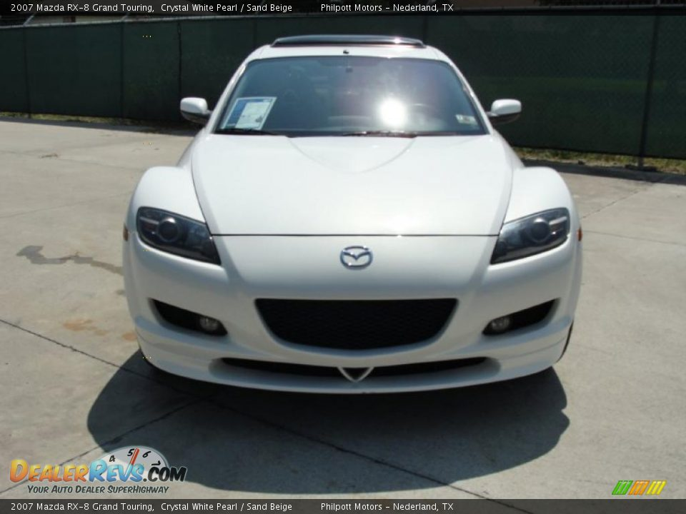 2007 mazda rx 8 grand touring crystal white pearl sand beige photo 8. Black Bedroom Furniture Sets. Home Design Ideas