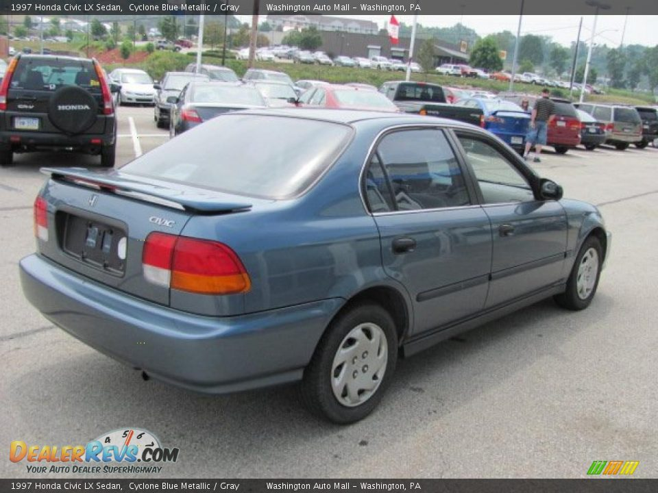 1997 honda civic lx sedan cyclone blue metallic gray. Black Bedroom Furniture Sets. Home Design Ideas