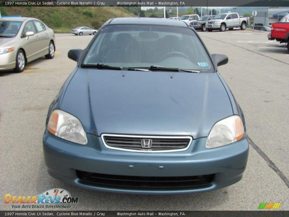 1997 honda civic lx sedan cyclone blue metallic gray photo 10. Black Bedroom Furniture Sets. Home Design Ideas