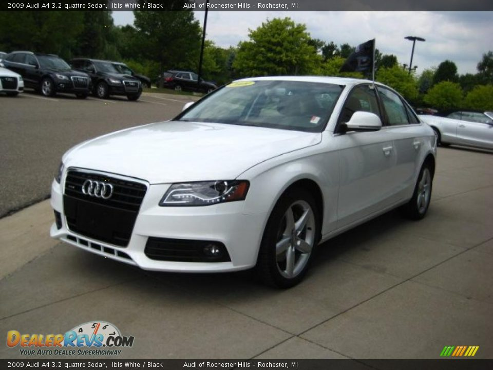 2009 audi a4 3 2 quattro sedan ibis white black photo 3. Black Bedroom Furniture Sets. Home Design Ideas