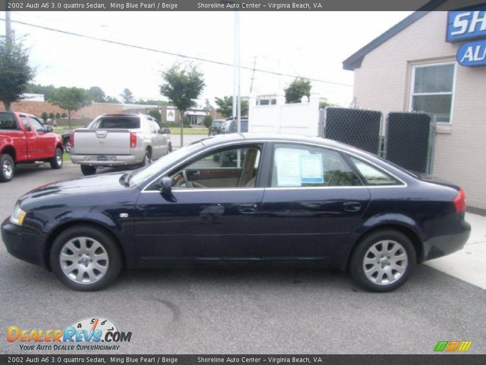 2002 audi a6 3 0 quattro sedan ming blue pearl beige photo 2. Black Bedroom Furniture Sets. Home Design Ideas