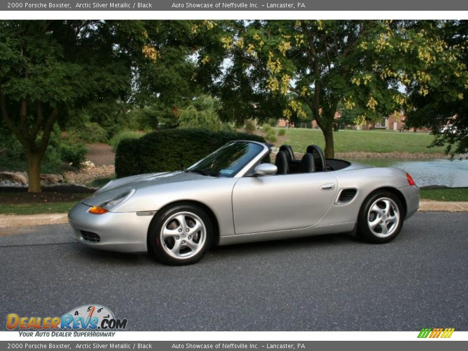 2000 Porsche Boxster Arctic Silver Metallic Black Photo