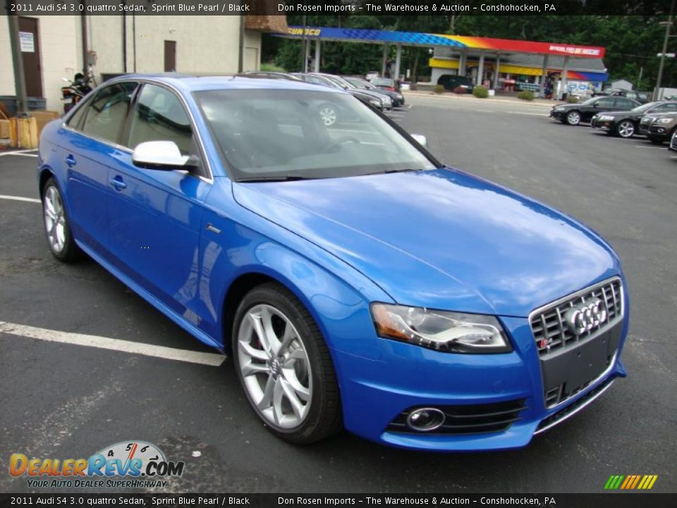2011 audi s4 3 0 quattro sedan sprint blue pearl black. Black Bedroom Furniture Sets. Home Design Ideas