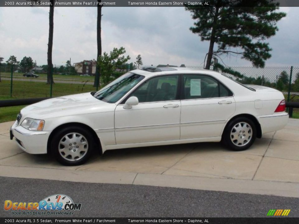 2003 acura rl 3 5 sedan premium white pearl parchment. Black Bedroom Furniture Sets. Home Design Ideas