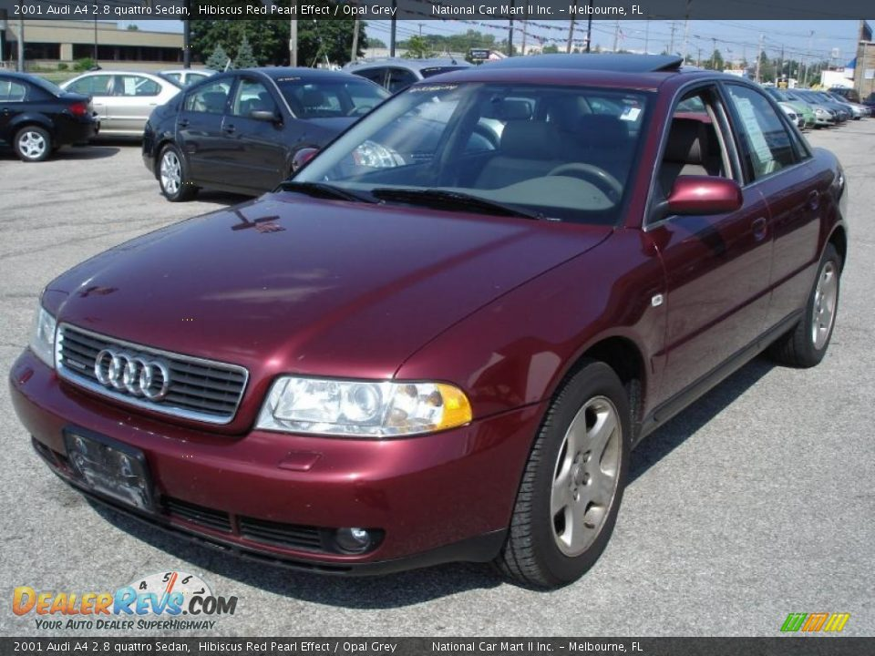 2001 audi a4 2 8 quattro sedan hibiscus red pearl effect opal grey photo 3. Black Bedroom Furniture Sets. Home Design Ideas