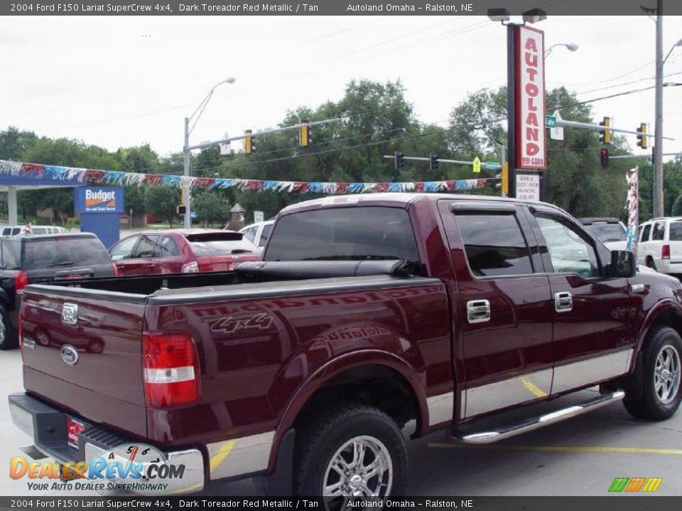 2004 ford f150 lariat supercrew 4x4 dark toreador red metallic tan photo 4. Black Bedroom Furniture Sets. Home Design Ideas